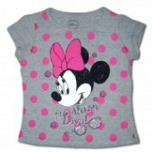 Minnie Mouse tricou gri buline