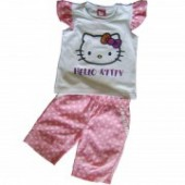 Hello Kitty set bermude roz