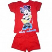 Minnie Mouse set short rosu