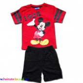 Mickey Mouse set sort rosu