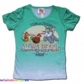 Tom si Jerry tricou verde degrade
