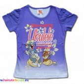 Tom si Jerry tricou mov degrade
