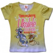 Tom si Jerry tricou galben degrade